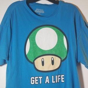 """Get A Life""  Super Mario Short Sleeved Tee Shirt"